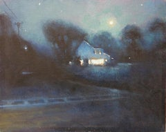 Contemporary Oil Painting by Michael Budden Country Moonlight