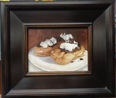 Contemporary Dessert Painting by Michael Budden Eclairs