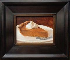 Contemporary Dessert Painting by Michael Budden Pumpkin Pie