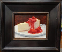 Contemporary Desert Painting by Michael Budden, Strawberrry Cheesecake