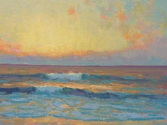 Ocean Beach Seascape Study Oil Painting  by Michael Budden Sunrise Series