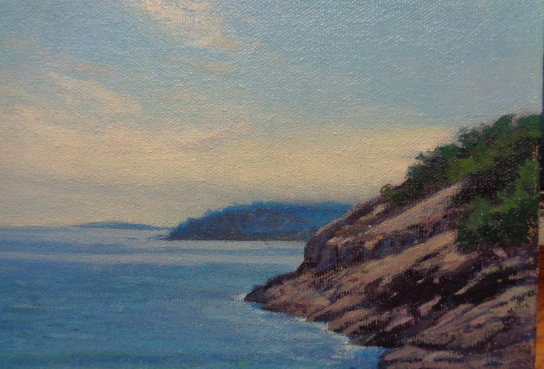 Landscape Oil Painting  Acadia Maine Contemporary by Artist Michael Budden For Sale 3