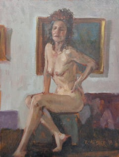 Contemporary Traditional Female Figure Painting by Robert Beck Lambertville NJ