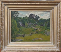 American Impressionist James Goodwin McManus CT Oil Painting Summer Landscape