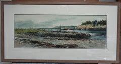 American Watercolor Artist Ray Ellis Seascape Salmagundi Club Auction NYC