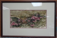 American Watercolor Floral Landscape by Ray Ellis Salmagundi Club Auction NYC