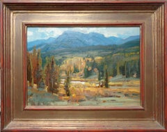 Wyoming Landscape Oil Painting by Scott L Christensen Hoback Country Fall