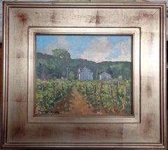 American Artist Don Griegar Winery Landscape Oil Painting Salmagundi Club