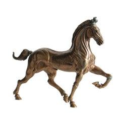 "Ludovico de Luigi, ""Cavalli di San Marco II"", bronze sculpture of prancing horse"