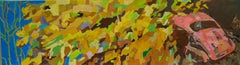 "Adrian Moldovan ""Foliage over Car"", large original oil on canvas"