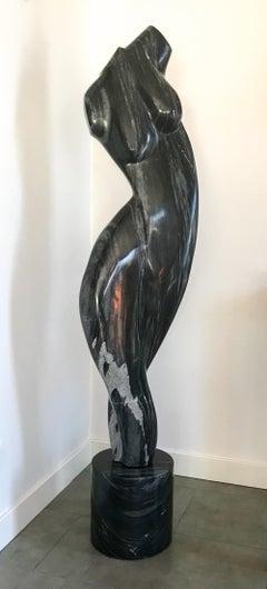 "Gert Olsen ""Torso"" 1997, large marble sculpture"