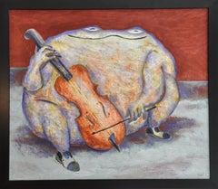 """Luis Castellanos Valui """"La Rana Solista"""", oil on canvas"""