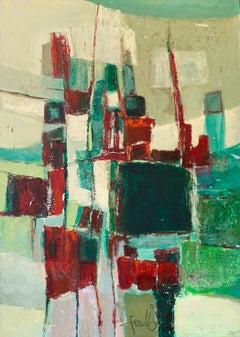 "Edith E. Ferullo ""Untitled"", acrylic on board"