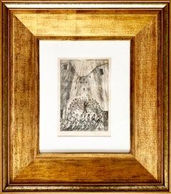 "Dési Huber István ""Round and Round"", original etchingl on paper"