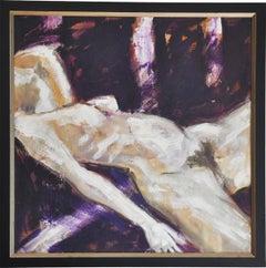 """""""Sleep II"""" by Marcel Lupse, original oil on canvas"""