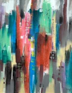 "William Jacobs ""Skyline"", original pastel on paper"