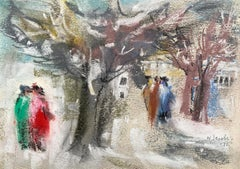 "William Jacobs ""A Stroll in the Park"", original pastel on paper"