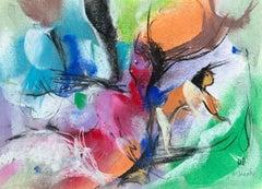 "William Jacobs ""Reclining Figure"", original pastel on paper"