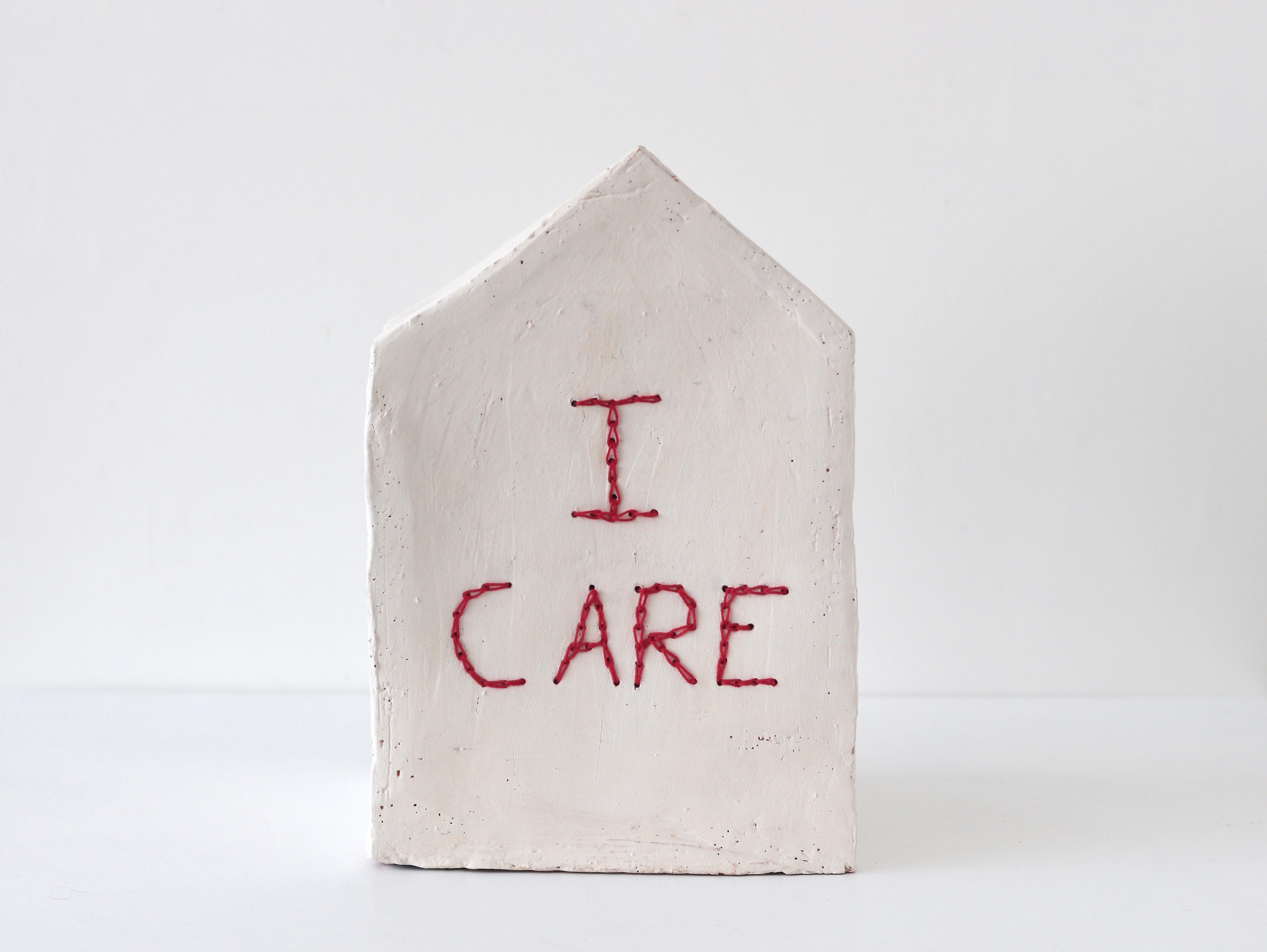 """Camilla Marinoni """"Accoglienza-MultiverCity"""" (I Care), ceramic sculpture"""