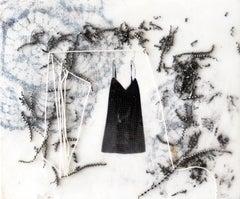 """Camilla Marinoni """"Quando ero giovane"""""""", mixed media with wax on wood panel"""
