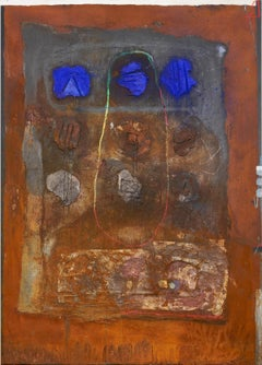 """Rolf Hegetusch """"The Nine Seals"""", mixed media on canvas"""