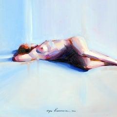 """Inga Khanarina """"Untitled"""", original oil on paper"""
