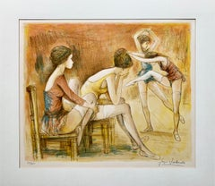 """Jacques LaLande """"Young Ballerinas"""", limited edition signed lithograph on paper"""