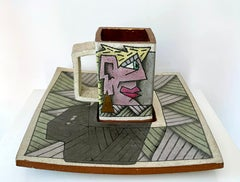 "Rimas VisGirda, ""A Cup and It's Shadow"", original stoneware with gold luster"