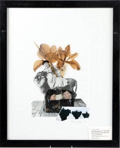 """Gregg Harper """"Old mythologies VI"""", mixed media collage on board"""