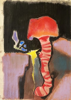 """Benoît Gilsoul """"Out of the Bowels of the Earth"""", charcoal and pastel on paper"""