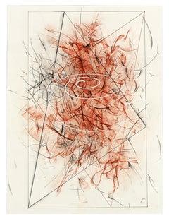 "Ricardo Morin ""Triangulation III"", original mixed media drawing on paper"