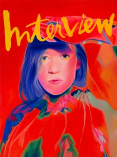 Cover Girl- Interview Magazine, Contemporary, Figurative, Oil Painting