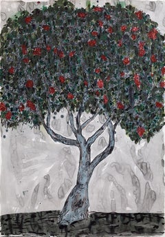 Untitled (Tree), Contemporary, Landscape, Ink and Watercolor on Paper