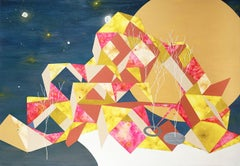 Moon Viewing Platform_ Cuboctahedron, Contemporary, Abstract, Geometric, Artwork