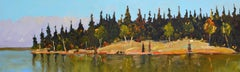 Edge of the Island, Late Summer, Contemporary, Expressionistic, Landscape