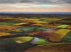 Final Approach, Contemporary, Traditional, Prairie Landscape, Painting