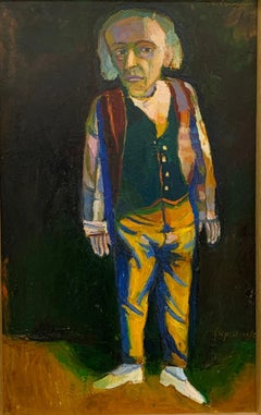 """""""The Candyman,"""" Contemporary, Figurative, Fauvist, Portrait, Painting"""