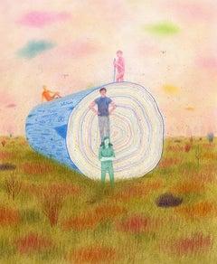 """Monoliths & Monomyths,"" Contemporary, Narrative, Illustration, Coloured Pencil"