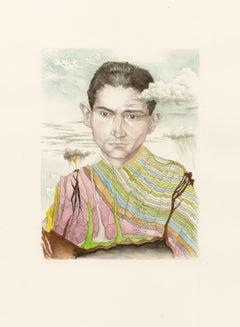 """Kafkaesque Volcanology"" Contemporary, Illustration, Watercolour, Figurative"