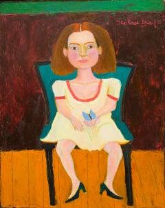 The Rose Dwarf, Contemporary, Figurative, Portrait Painting