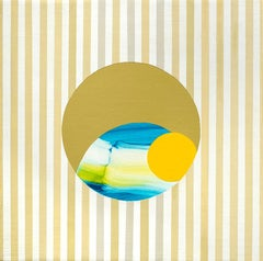 Moon Viewing Platform_Beach, Contemporary, Abstract, Geometric Painting