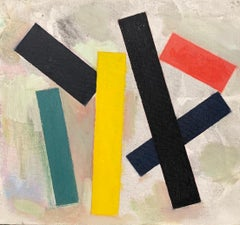 """Untitled, 6 Forms (Green, Yellow, Red),"" Modern Artwork, Geometric, Still-Life"