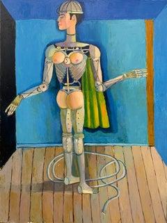 """The Gyrating Machine,""  Fauvist, Contemporary, Figurative, Surrealist"