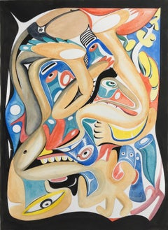 """""""Best of Us,"""" Contemporary, Abstract, Haida Nation Motify, Artwork on Paper"""