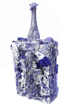 """""""Blue Interrupted"""" Ceramic Sculpture"""