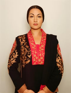 Pakistani Woman, contemporary, photography, selfportraiture, red, gold, brown