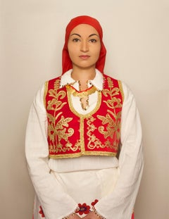 Turkish Woman, contemporary, photography, selfportraiture, red, gold, white