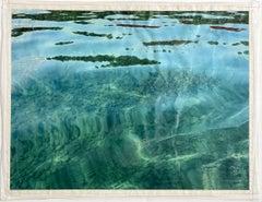 Island, contemporary, mixedmedia, photography, blue, green, brown