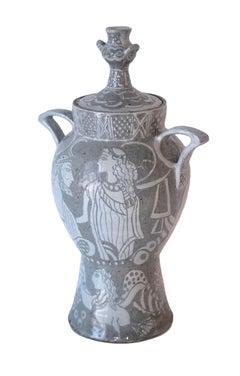 Sphinx and Couple, contemporary, sculpture, ceramic, stoneware, vase