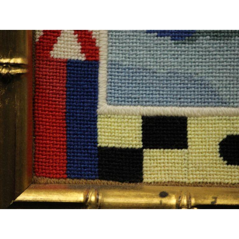Circa 1960's Hand-Needlepoint 'Lijack' Yacht - Other Art Style Art by Unknown